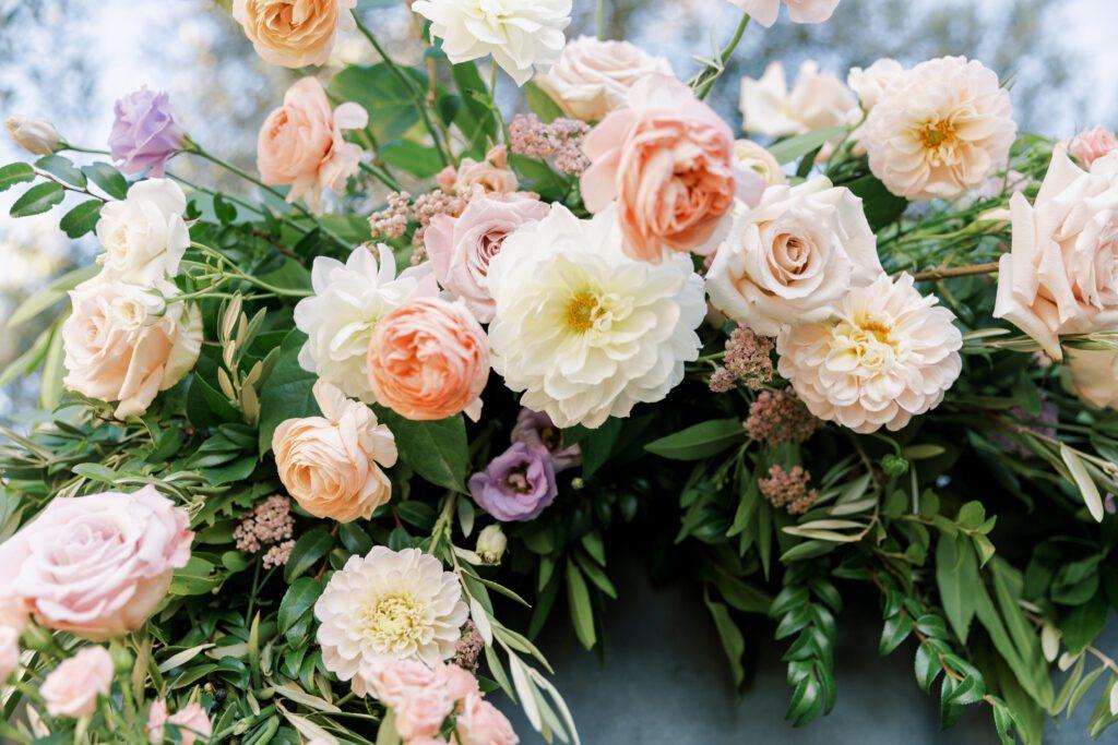 blush colored florals