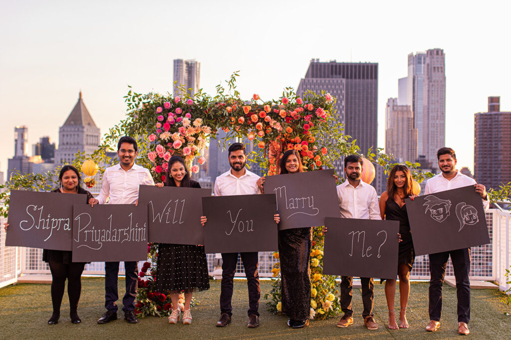 family involved in proposal for NYC rooftop engagement