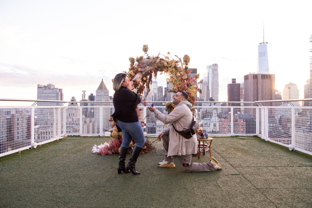 Down on one knee photo- New York Proposal