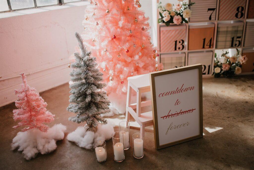 Life-Size Advent Calendar Christmas Proposal Decor