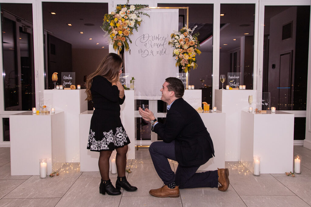 Down on one knee in NYC