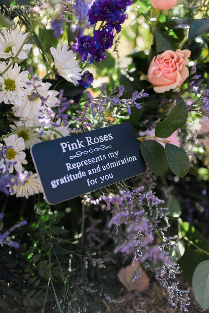 Custom flower saying