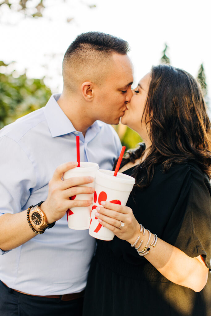 Chick-fil-A shakes during proposal