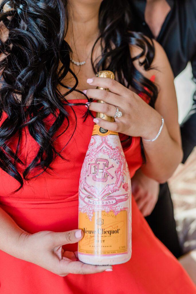 Custom Champagne Bottle