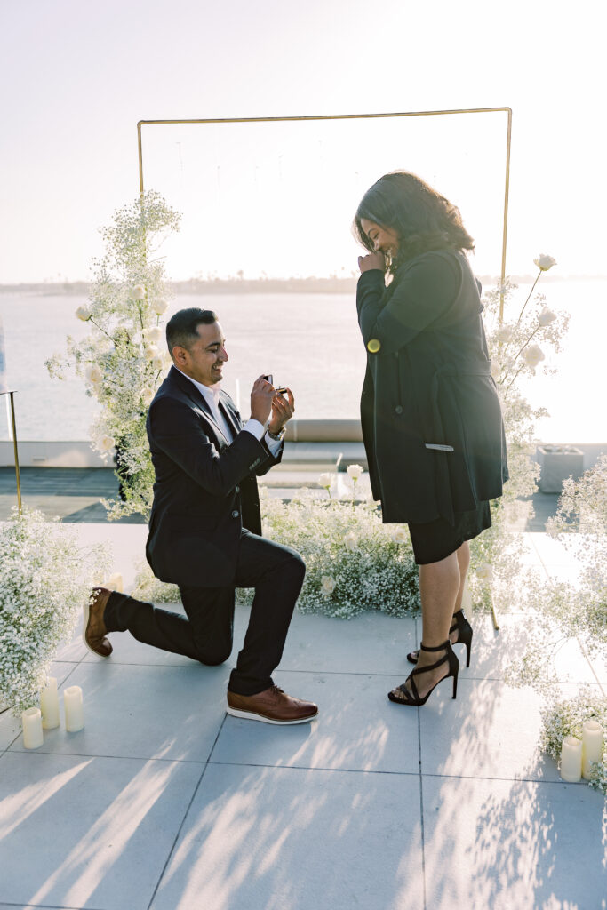 man down on one knee