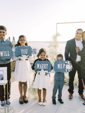 family involved in marriage proposal in san diego