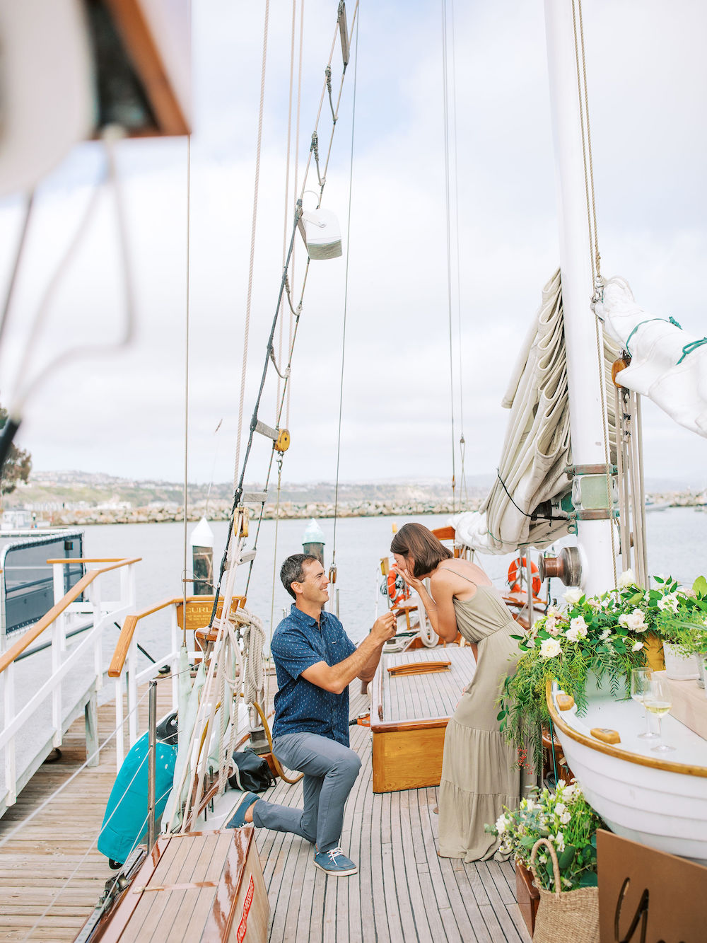 marriage proposal on boat with yes local