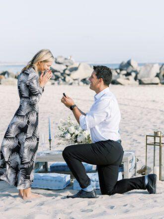 man proposing in san diego