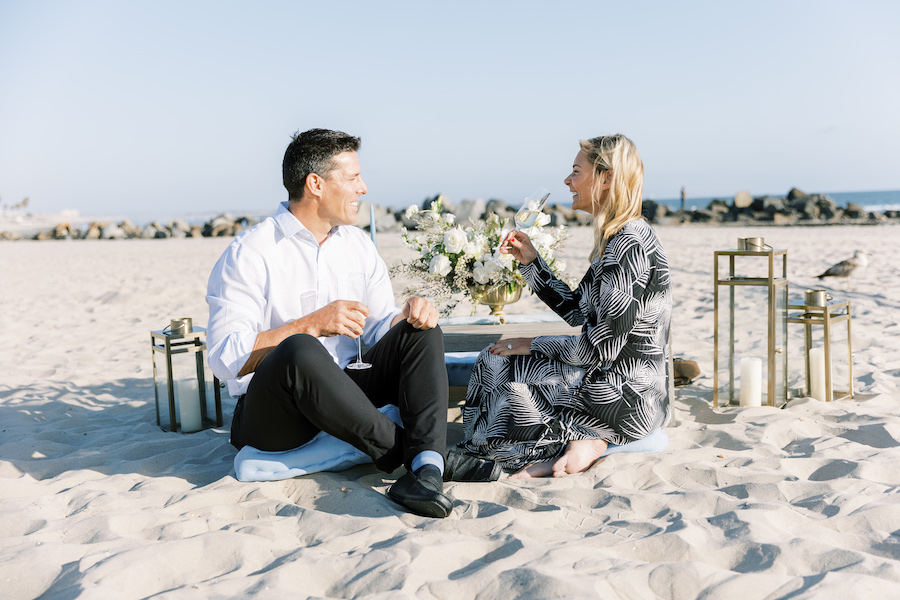 celebrating as an engaged couple