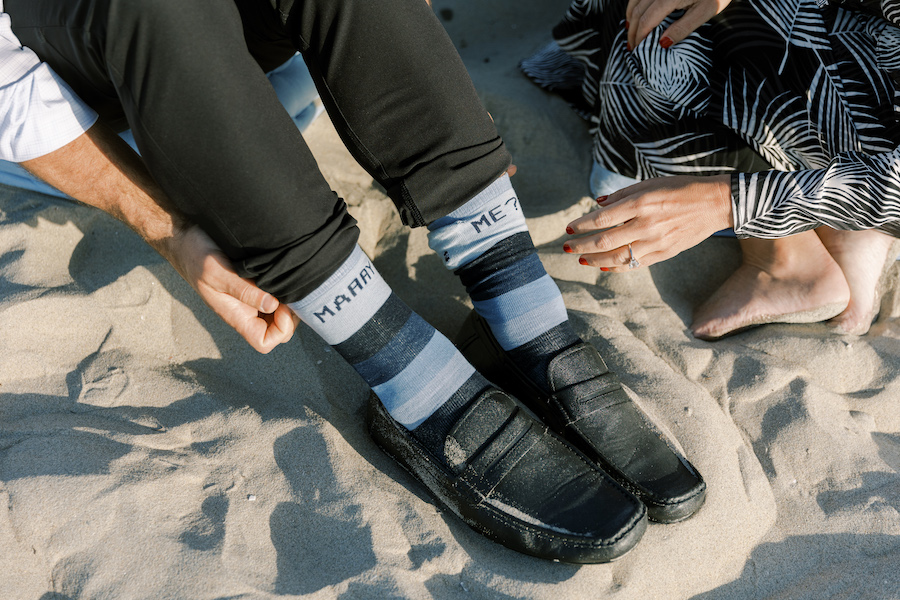 proposal socks to hold ring for proposal