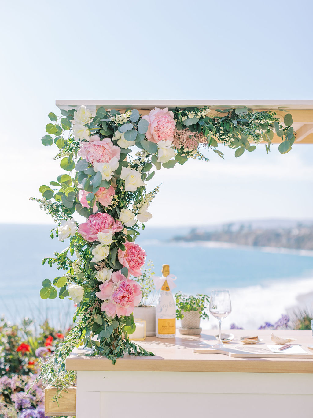 Beautiful floral arrangement for marriage proposal