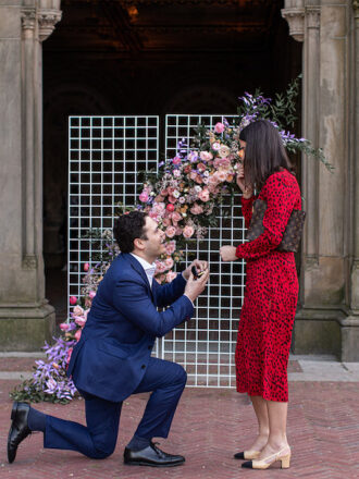 man on one knee during marriage proposal