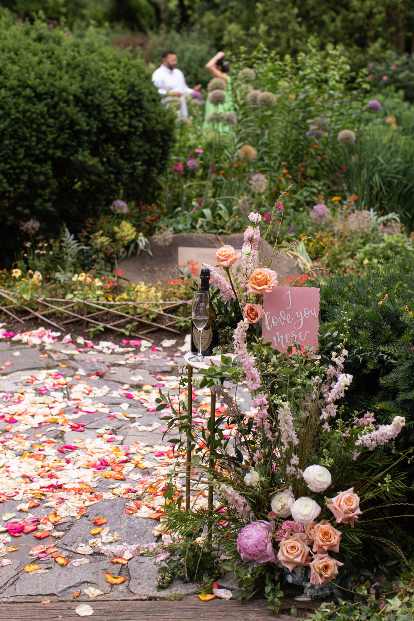 gorgeous flower display in central park