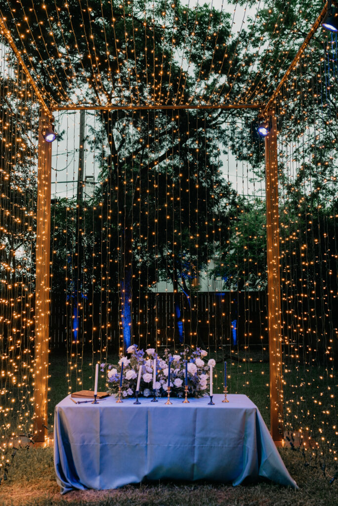 canopy of lights marriage proposal