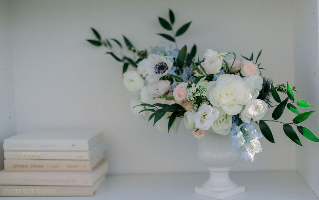 close up of flowers for proposal in new york