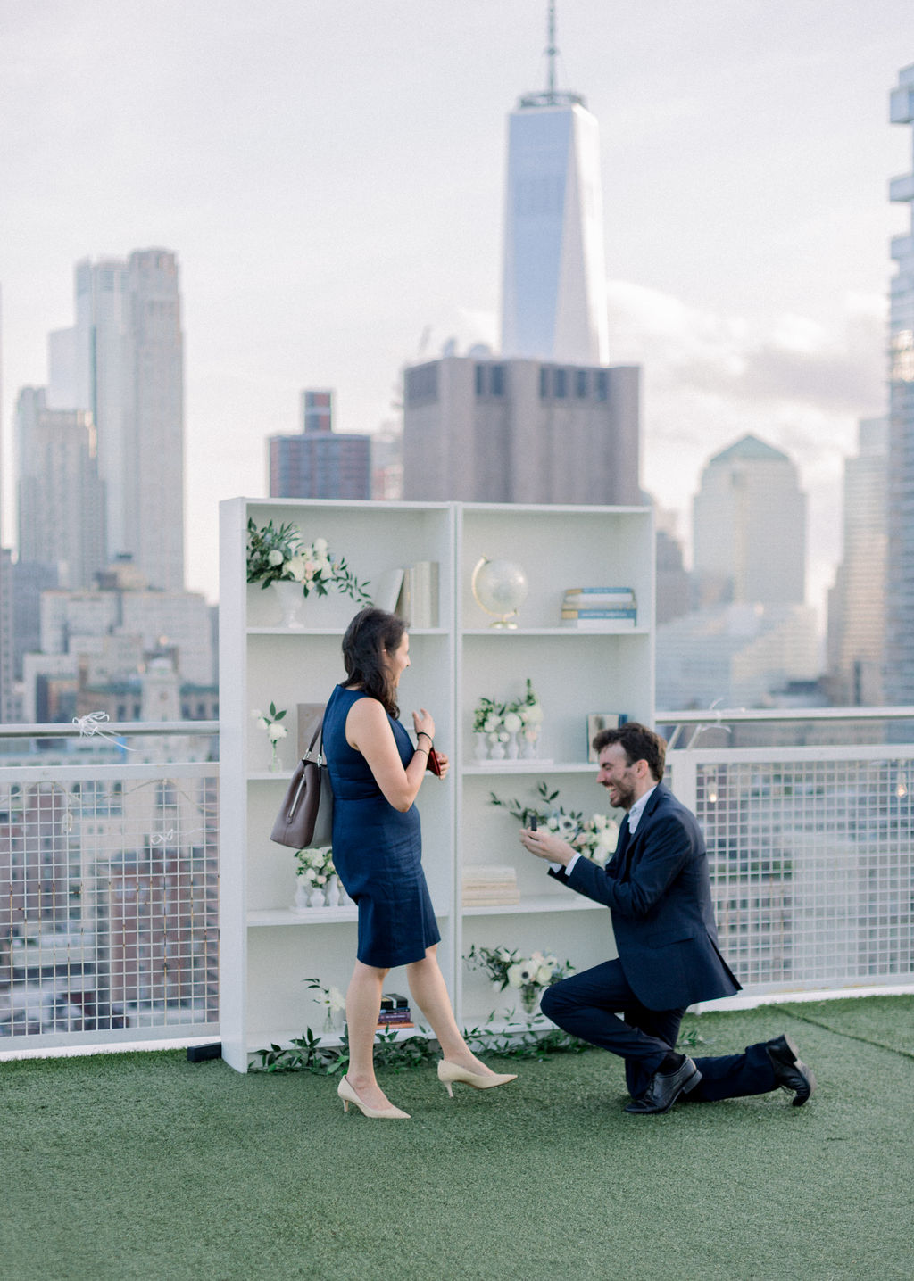 man down on one knee for proposal