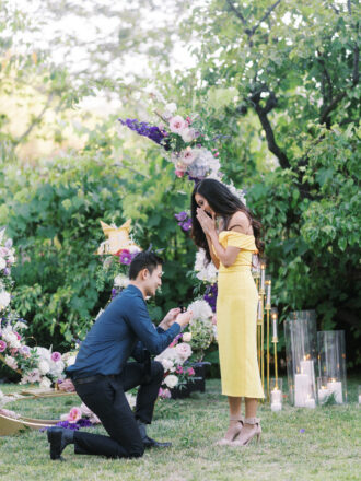 Man proposing for marriage proposal in LA
