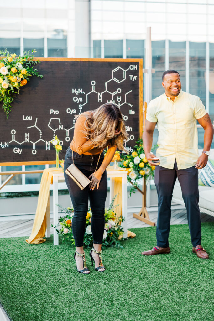 Girl surprised at proposal