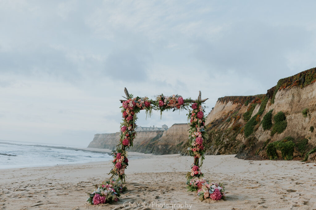 half moon bay luxury proposal location with the yes girls