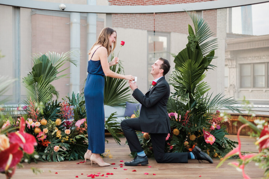 The Bachelor style marriage proposalge proposal in
